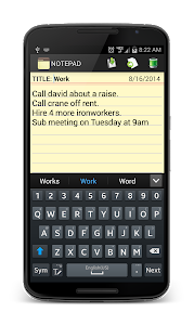 screenshot of Notepad version 2.13