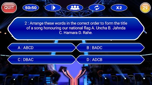 screenshot of New KBC 2018 : All Languages GK Quiz Game version 1.0.0