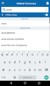 screenshot of Oxford Medical Dictionary version 10.0.407