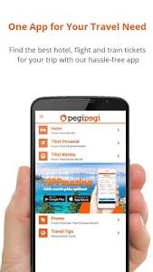 screenshot of Pegipegi Hotel Train Flight version 1.8.4