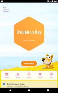 screenshot of Period Tracker, Ovulation Calendar & Fertility app version 1.25