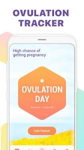 screenshot of Period Tracker, Ovulation Calendar & Fertility app version 1.1.8