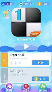 screenshot of Piano Tiles 1 version 1.1.11