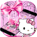 Download Pink Kitty Silken Bowknot Theme 1.1.2 APK