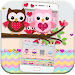 Download Pink Lovely Owl Cartoon Theme 1.1.16 APK