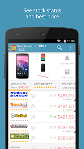 screenshot of PriceSpy compare prices & shop version 2.11.1