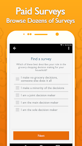 screenshot of QuickThoughts: Take Surveys Earn Gift Card Rewards version 2.15.7