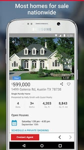 screenshot of Realtor.com Real Estate, Homes version 7.6.2