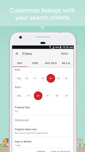screenshot of Realtor.com Real Estate: Homes for Sale and Rent version 8.15