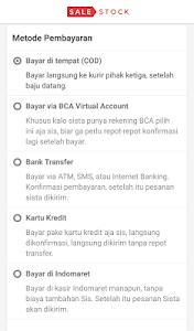 screenshot of Sale Stock Toko Baju Online version 0.2.45