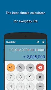 screenshot of Simple Calculator version 1.0.6