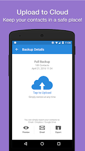 screenshot of Simpler Contacts Backup version 5.4.6