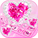 Download Sparkling Diamond Love Keyboard Theme 10001001 APK