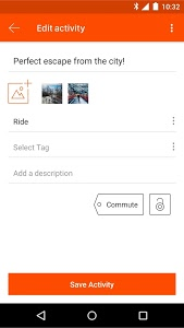 screenshot of Strava Running and Cycling GPS version Varies with device