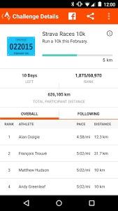screenshot of Strava Running and Cycling GPS version 4.4.2