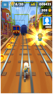 screenshot of Subway Surfers version 1.72.1