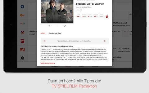 screenshot of TV SPIELFILM - TV-Programm mit LIVE TV version Varies with device
