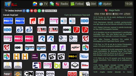 screenshot of TVRON TV Online version 1.0.3