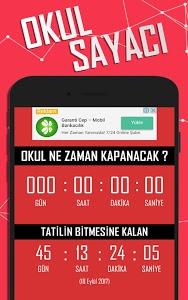screenshot of Tatil Sayacı - Okul Sayacı version 1.2.9