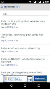 screenshot of The Hindu News (Official app) version 2.6