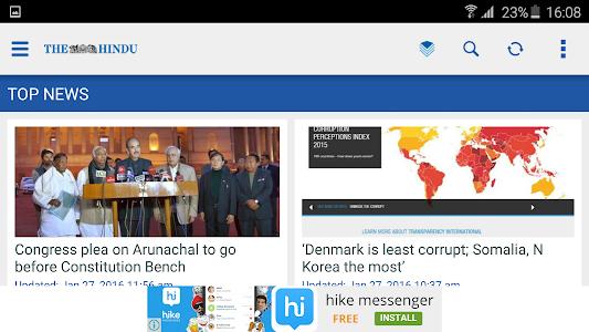 screenshot of The Hindu News (Official app) version 2.9