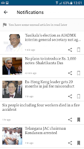 screenshot of The Hindu official news app - latest news updates version Varies with device