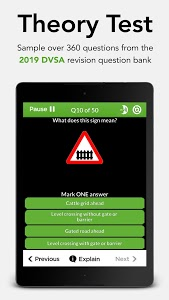 screenshot of Driving Theory Test Free 2019 for Car Drivers version 3.1.2