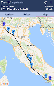 screenshot of Trenit! - find Trains in Italy version 5.0.0