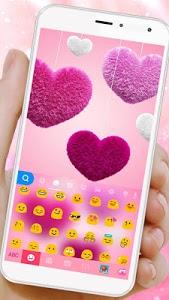 Download Valentine Plush Heart Keyboard Theme 1.0 APK
