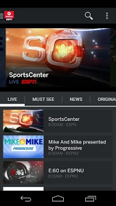 screenshot of WatchESPN version 2.4.5