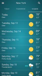 screenshot of Weather ? version 1.4.1