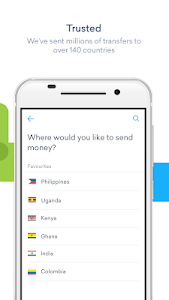 screenshot of WorldRemit Money Transfer version 3.18.0.382