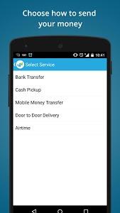 screenshot of WorldRemit Money Transfer version 1.17.2
