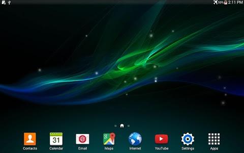 screenshot of Wave Z Live Wallpaper version 1.1.6