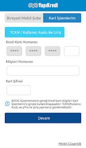 screenshot of Yapı Kredi Mobil Bankacılık version 2.5.4