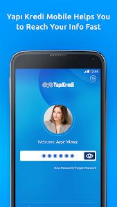 screenshot of Yapı Kredi Mobile version Varies with device