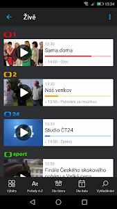 screenshot of iVysílání České televize version Varies with device